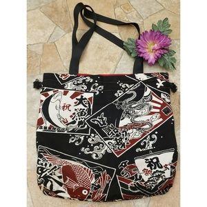 Handmade Drawstring Tote bag